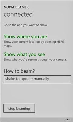 Nokia Beamer for Windows Phone