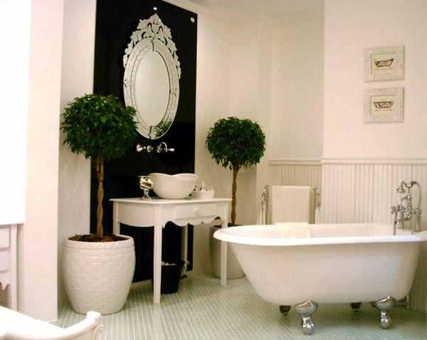 Estilo Vitoriano – tendência nas passarelas e na decoração!  Decor Salteado  -> Banheiro Com Banheira Preta