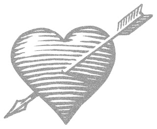 Love picture: heart with arrow