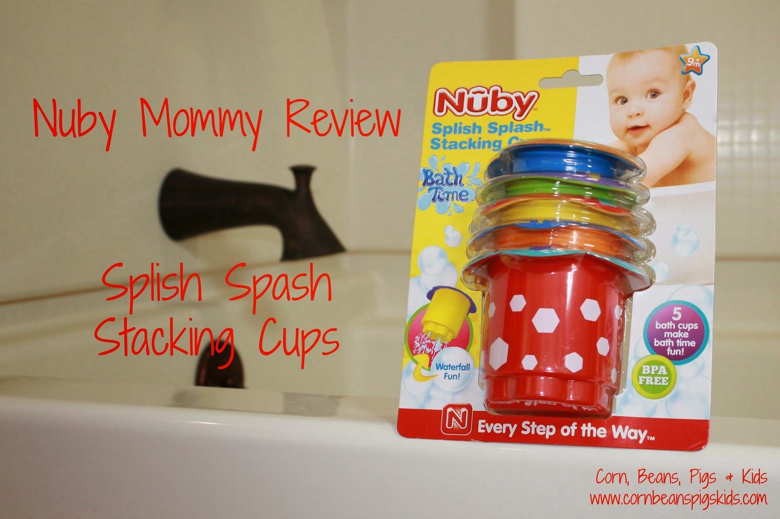 Nuby Mommy Review - Splish Splash Stacking Cups