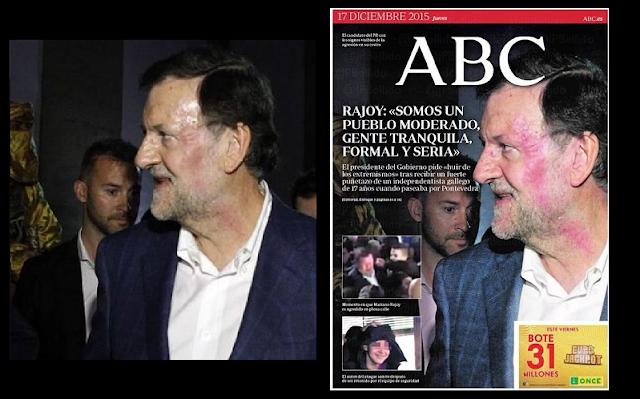 ABC manipula con photoshop el golpe a Mariano Rajoy