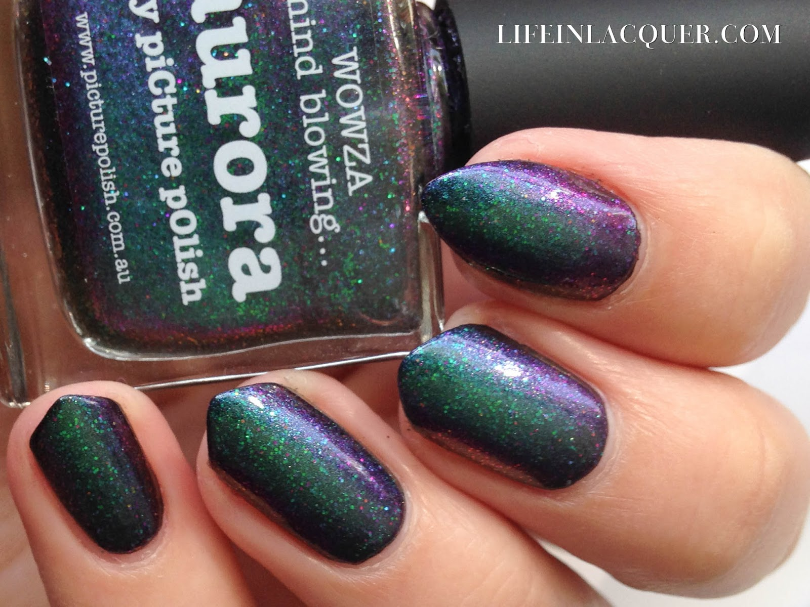 piCture pOlish Aurora swatch nails