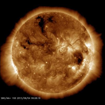 Agujero coronal solar 04 de Septiembre 2013
