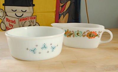 retro white pyrex