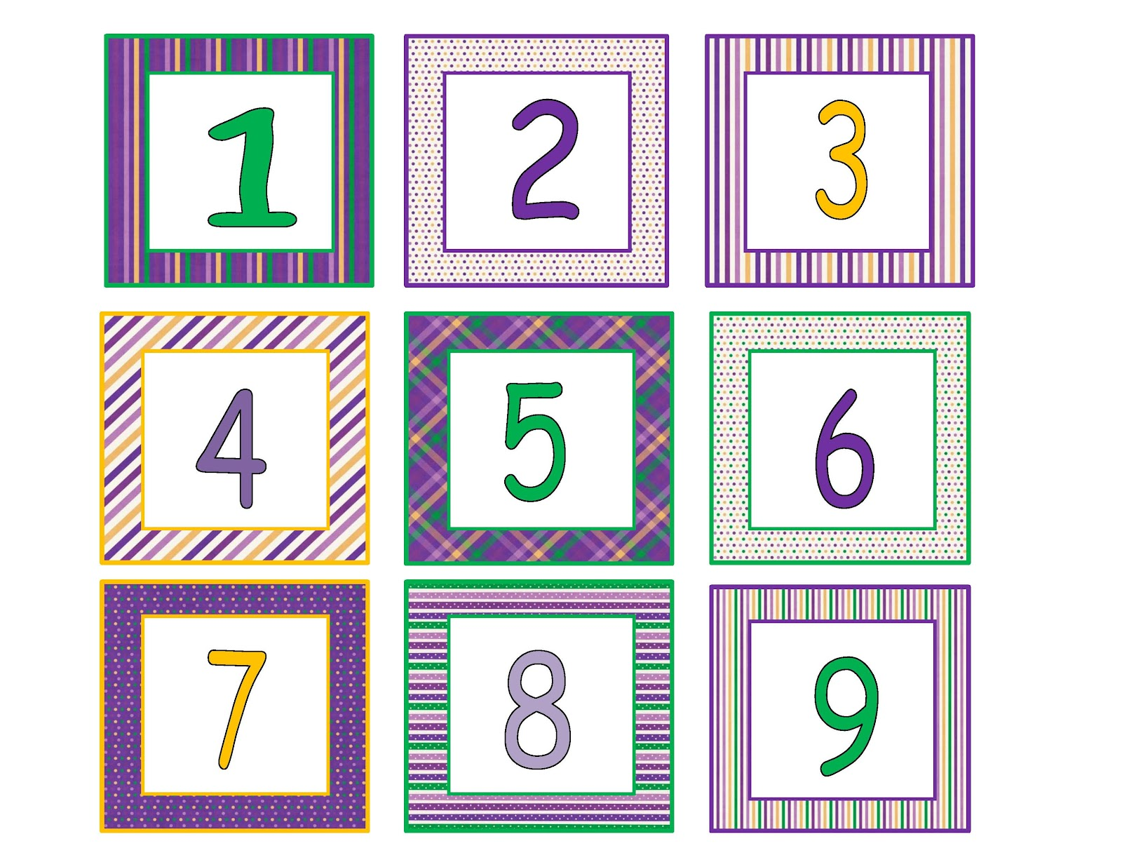 Preschool Printables: Purple Chicka Chicka Boom Calendar