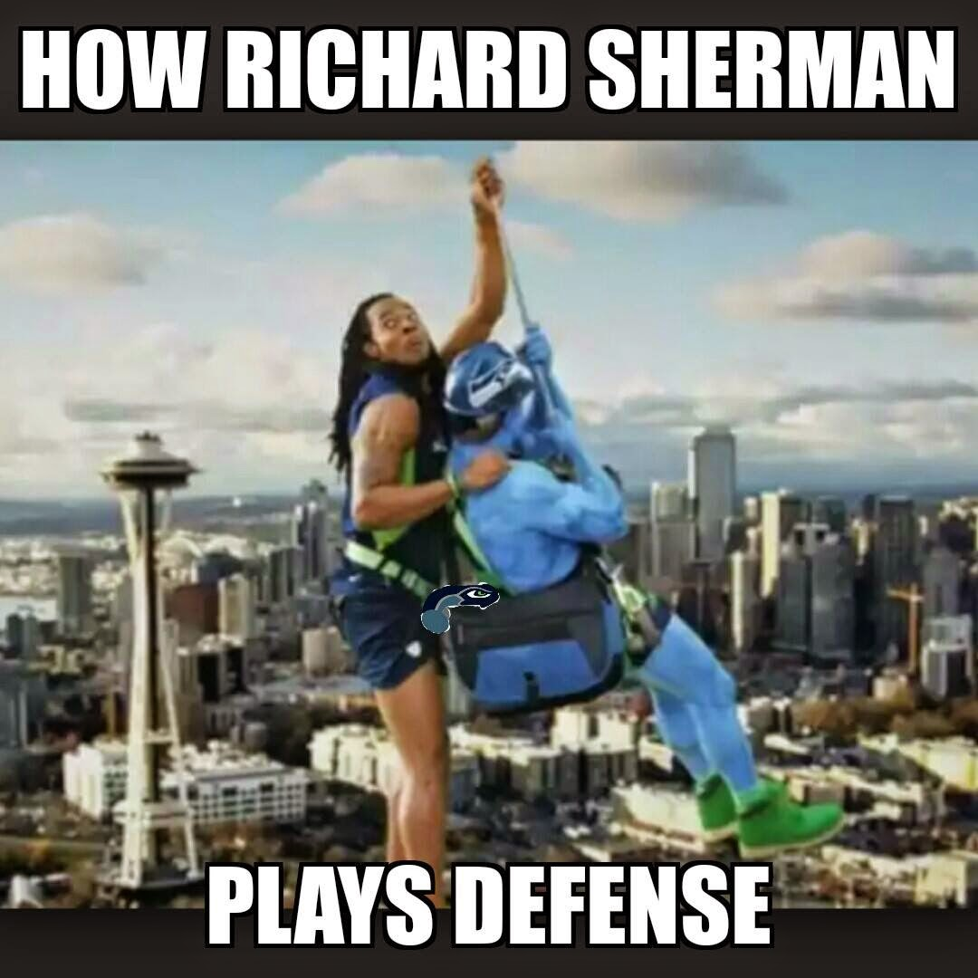 how richard sherman plays defense
