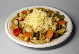 Cous Cous con verduras y garbanzos