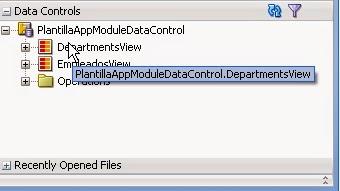 vista viewobject en data controls