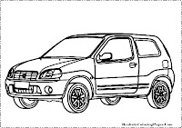 Suzuki Ignis coloring page