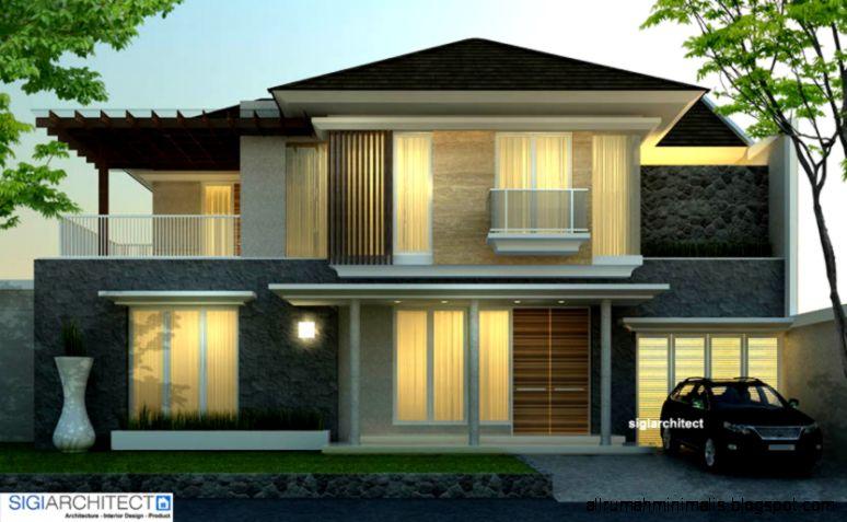 desain rumah minimlais tropis
