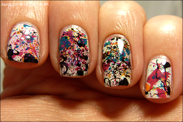 Messy Splatter Manicure de Sweet Sugar