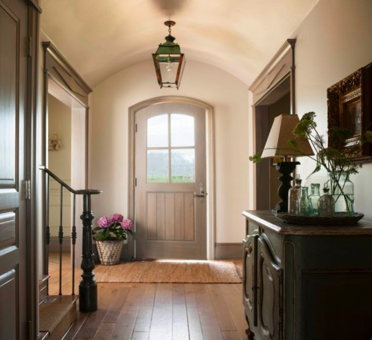 French country entry and foyer. Come see this Rustic Elegant French Gustavian Cottage by Decor de Provence in Utah! #frenchcountry #frenchfarmhouse #interiordesigninspiration #rusticdecor #europeanfarmhouse #housetour