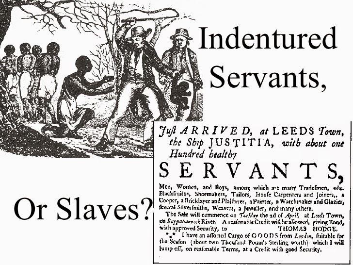 essay indentured servants slaves