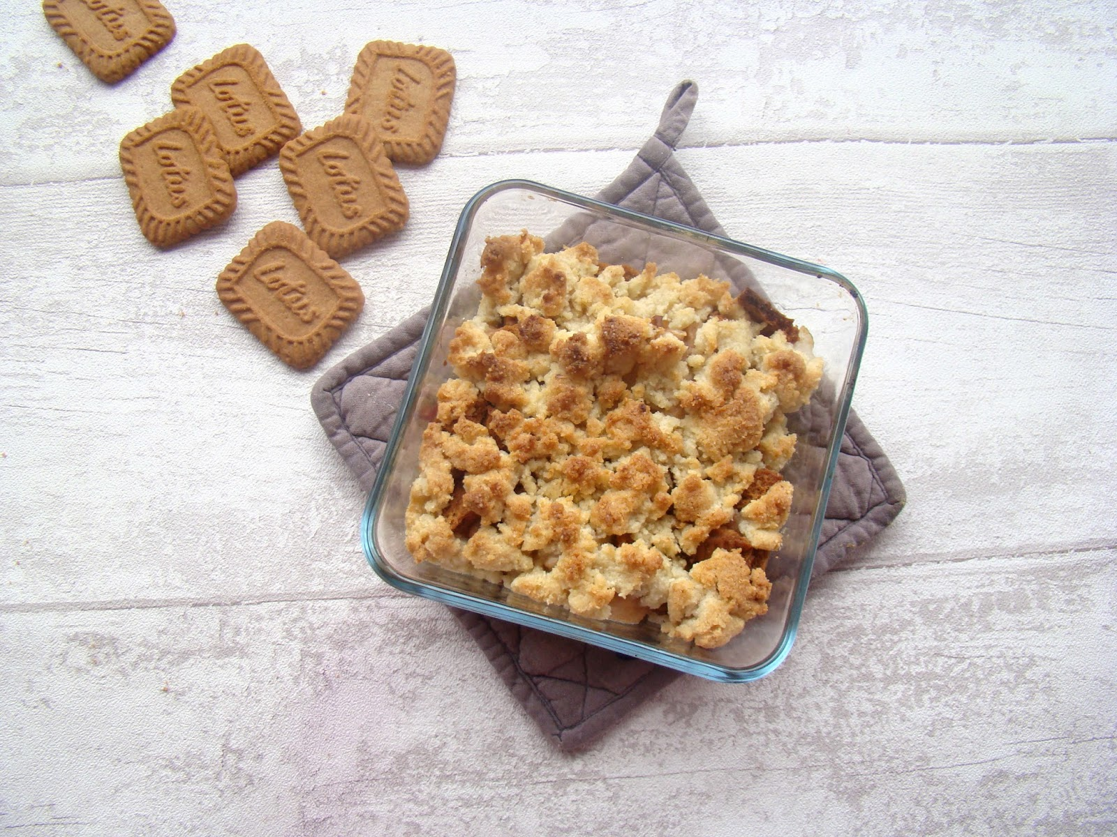 Crumble Pomme-Poire-Speculoos