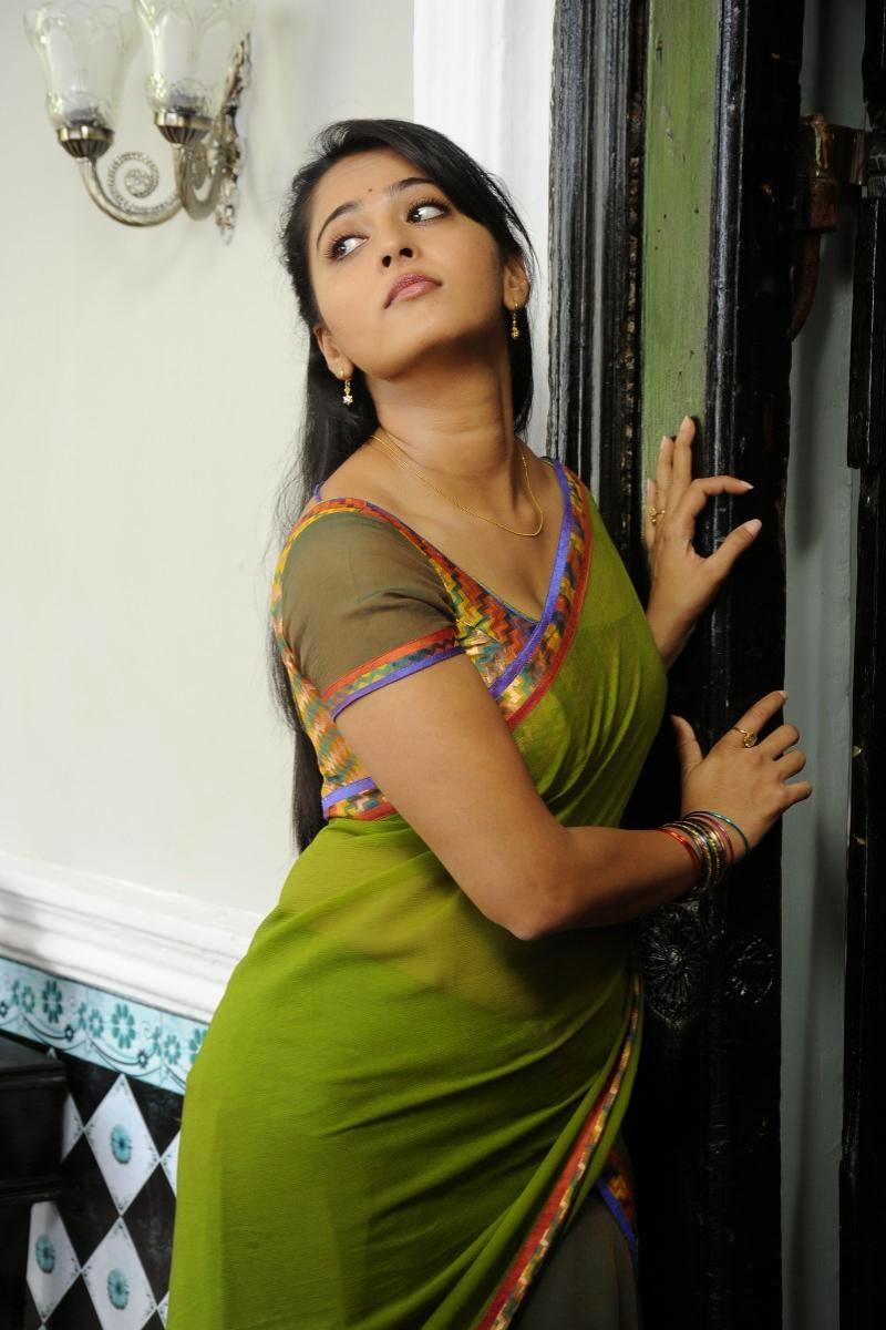 Saree] Actress Anushka Shetty Hot Photo Gallery   Trend & Fasions Blog