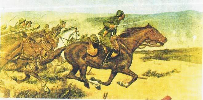 Las Cargas del Regimiento de Alcantara.