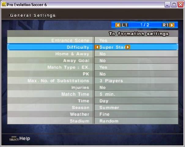 Cara Menambah Level Super Star PES 6