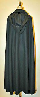 Vintage Calvin Kline hooded cloak with front buttons-back view
