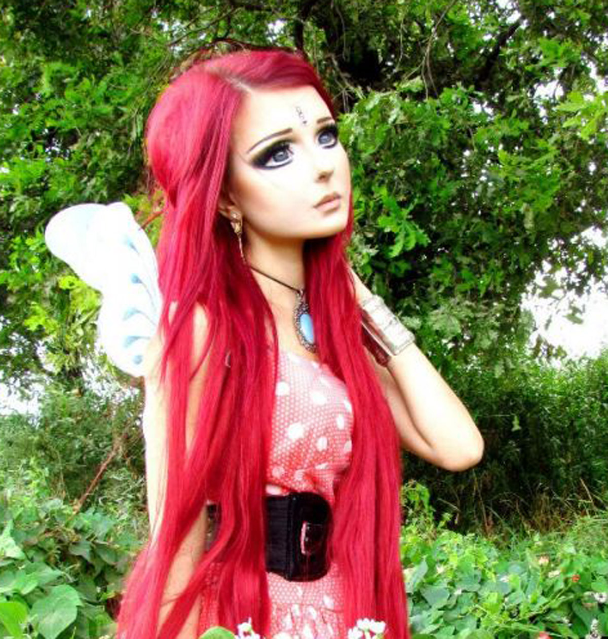 Fashion style Doll Anime makeup for lady