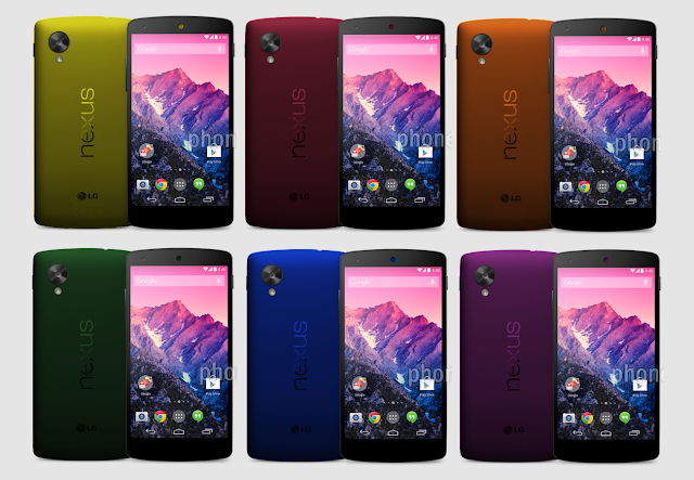 Nexus 5 new colours
