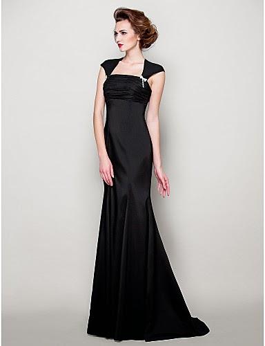 Vestido de satén negro