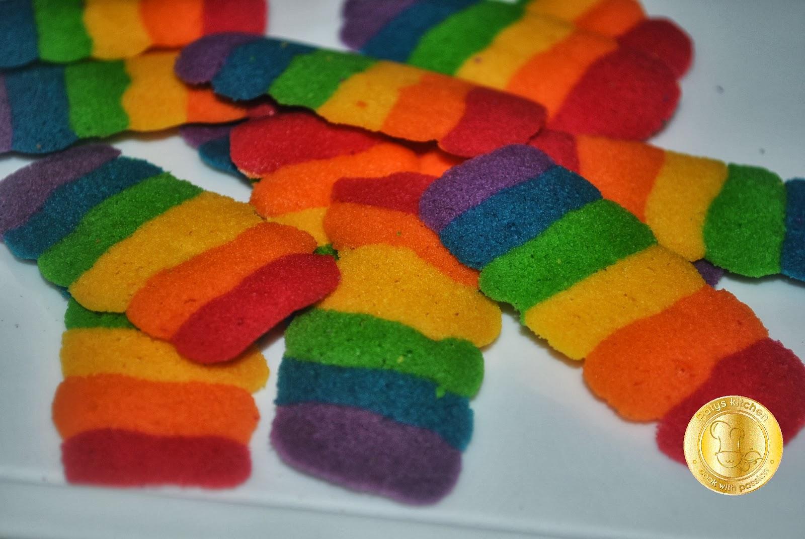 Patyskitchen Rainbow Cat S Tongue Cookies