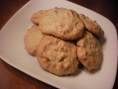 Plate of toasted coconut nut butter cookies