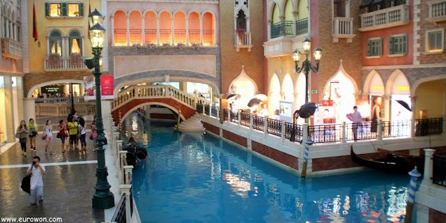 Reproducción de Venecia en un casino de Macao