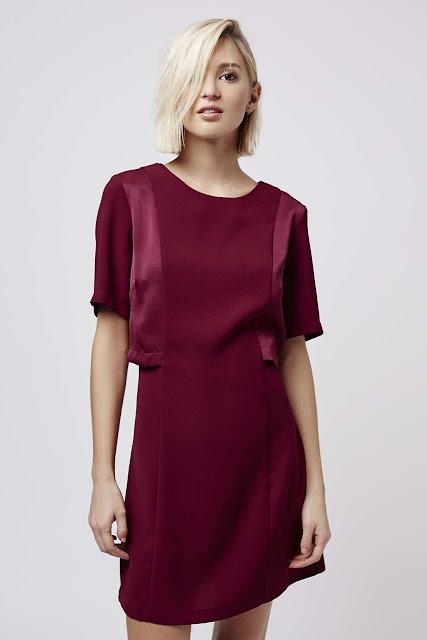 wine layered dress, burgundy overlay dress, maroon topshop dress,