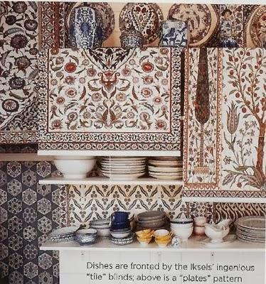 Iksel wallpaper, iznik shades via belle vivir