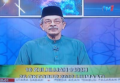 Tarikh Hari Raya Aidiladha 2012 Pada 26 Oktober