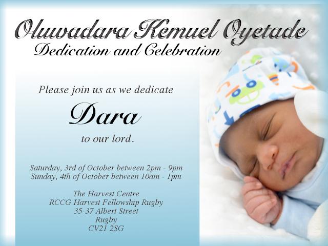 Dedication and Celebration Christian Invitation Gimp Baby Boy Simple Blue