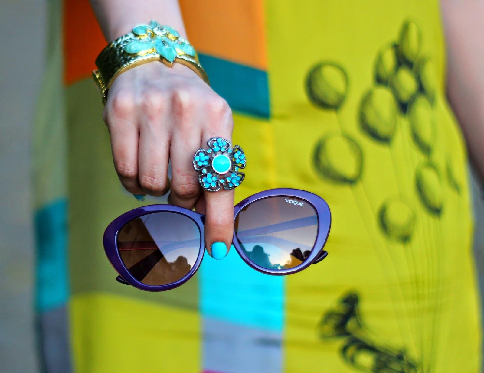 Vogue Eyewear Purple Rim Sunglasses