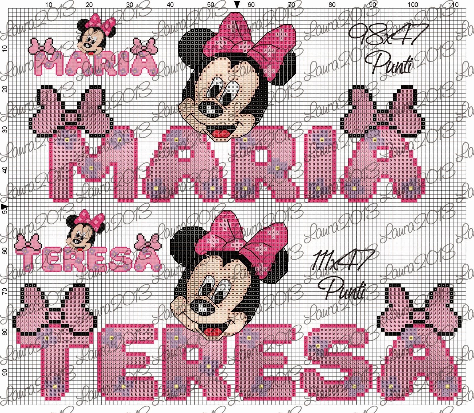 Gli Schemi Di Laura Maria Paola E Maria Teresa Con Minnie