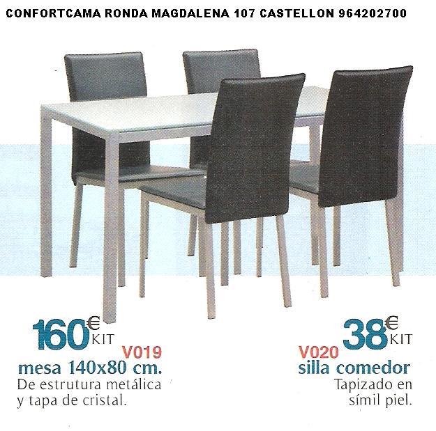 Muebles oferta kit mesas sillas y estanterias for Muebles baratos castellon