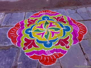 simple rangoli design for sankranthi
