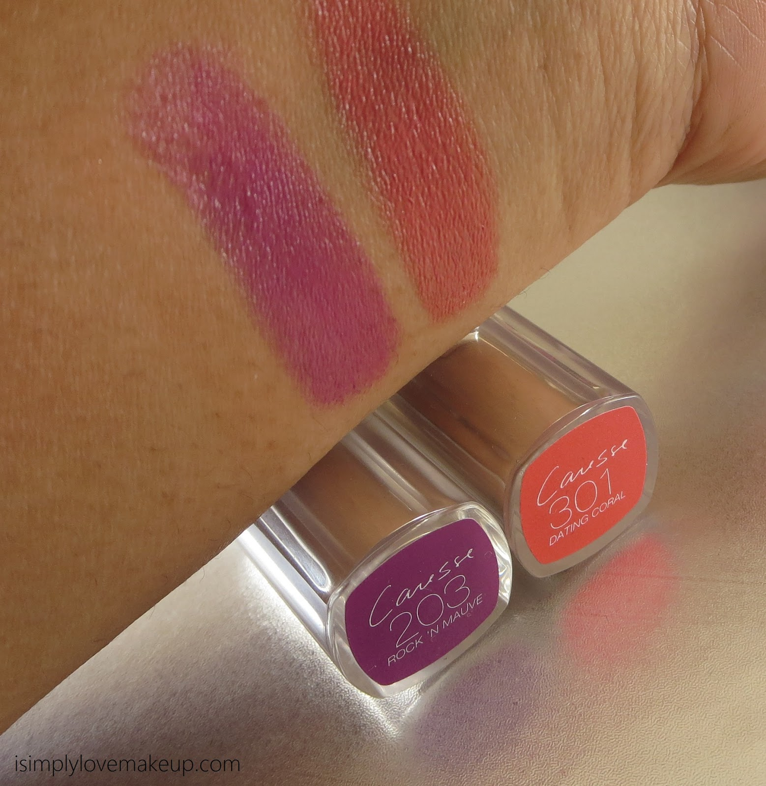 L'Oreal Paris Rouge Caresse Lipsticks - Review and Swatches