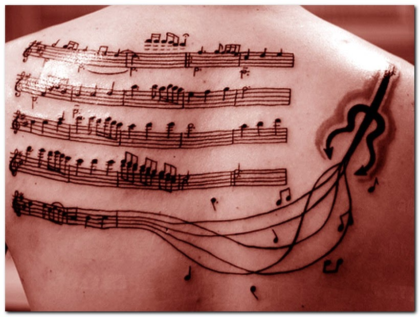 Cool Music Note Tattoo...