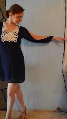 ModaBox Crochet Open Sleeve Dress
