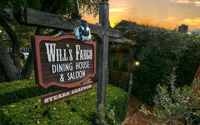 Exterior of Will's Fargo Dining House and Saloon