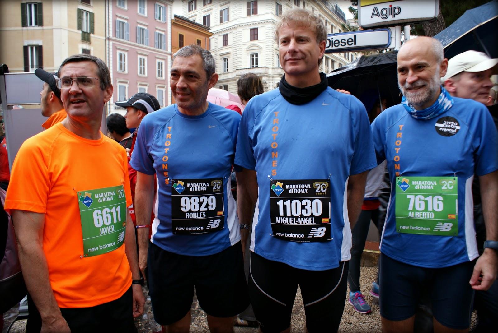 Maratón de Roma 2014 antes de salir