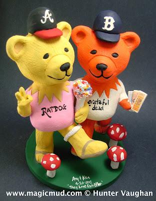 grateful dead bears wedding cake topper