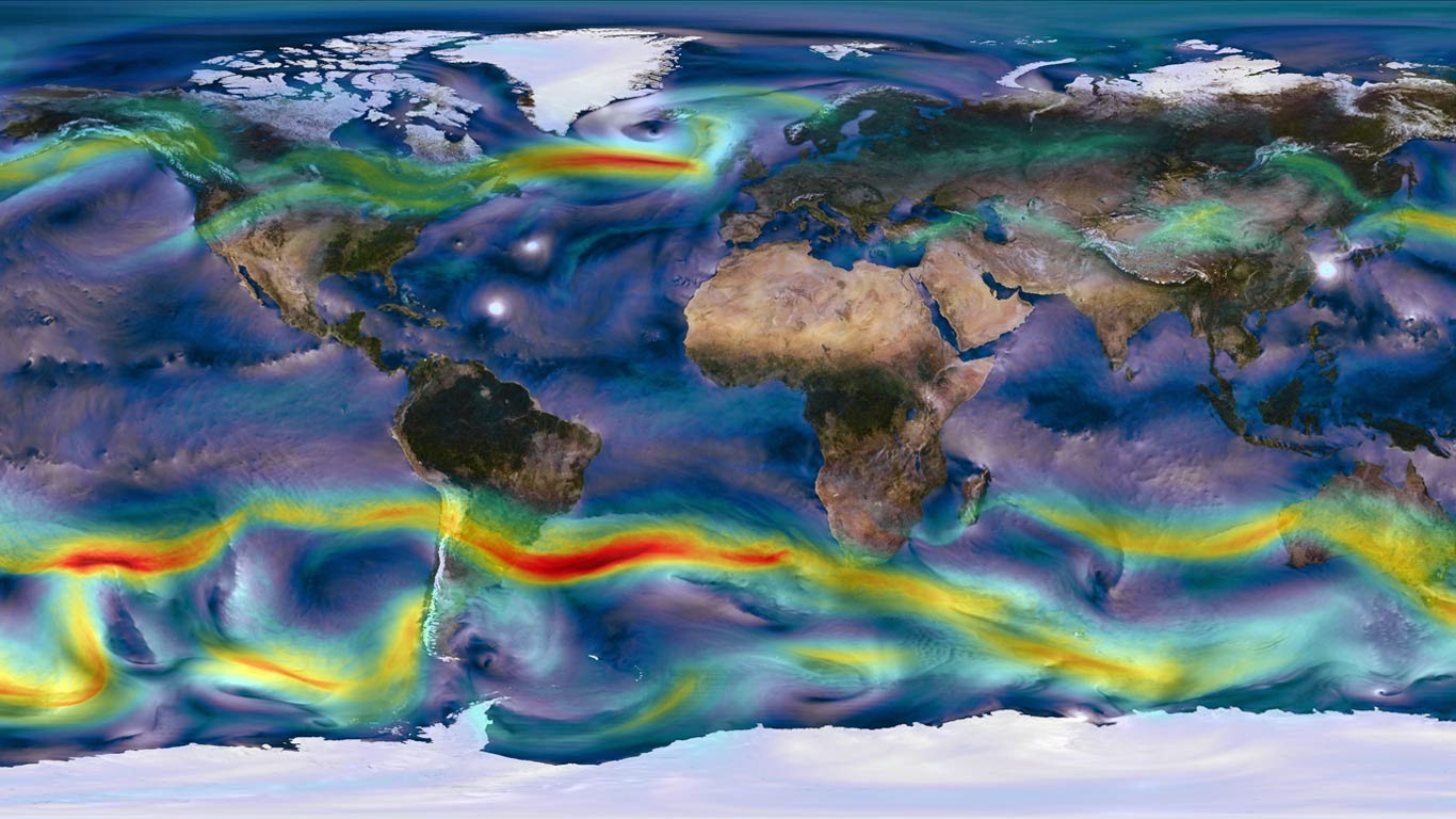 Global map of winds (© NASA) 294