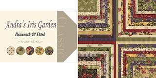 Moda AUDRA'S IRIS GARDEN Quilt Fabric by Brannock & Patek