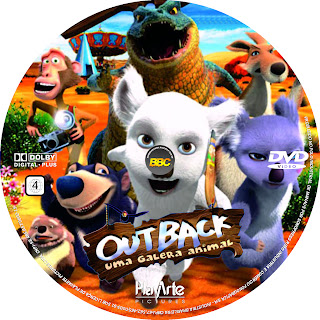 Outback - Uma Galera Animal - Capa + Label DVD