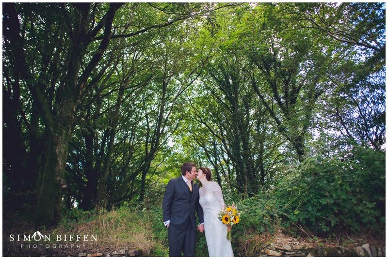 Trevenna wedding photography Bride and Groom