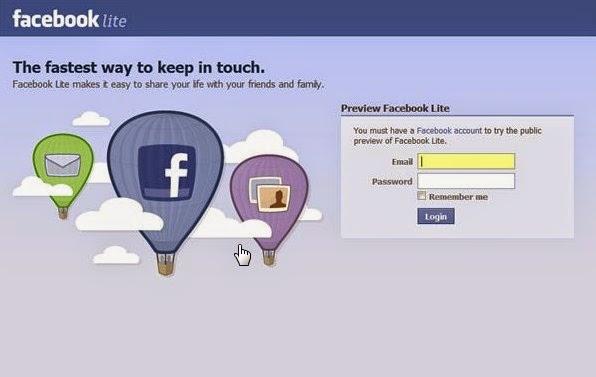 Facebook Lite, Aplikasi Ringan Untuk Ponsel Murah