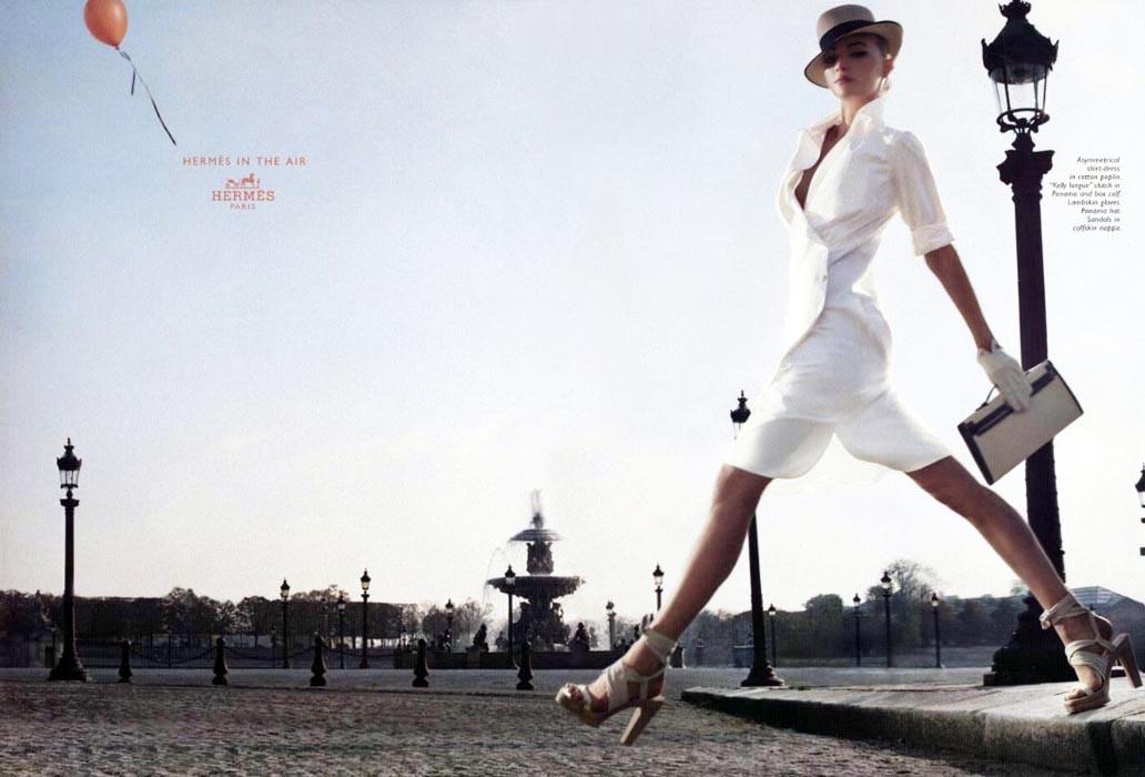 Gemma Ward in Hermes Spring/Summer 2006 campaign (photography: Greg Kadel)