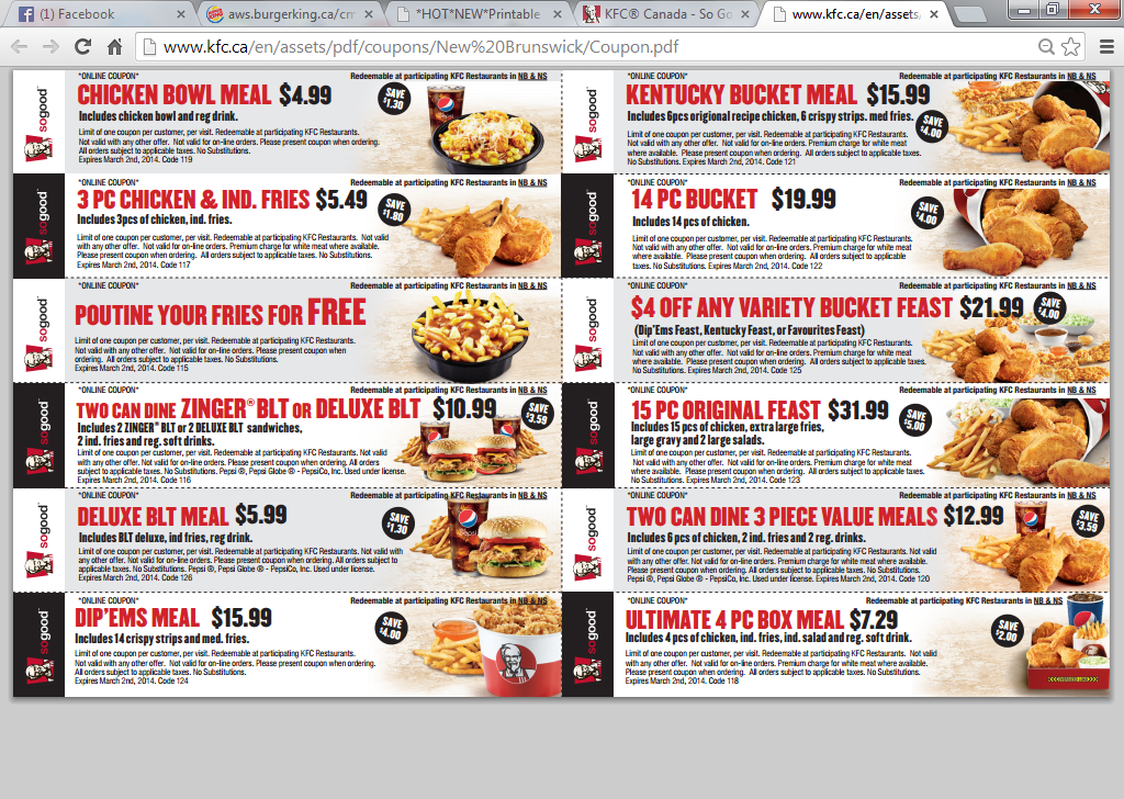 Kfc coupon codes