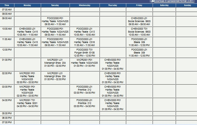 how to give uni timetable to jury